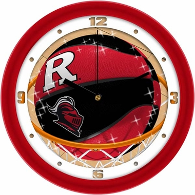Rutgers Slam Dunk Wall Clock