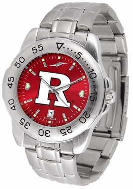 Rutgers Sport Anonized Men's Steel Band Watch