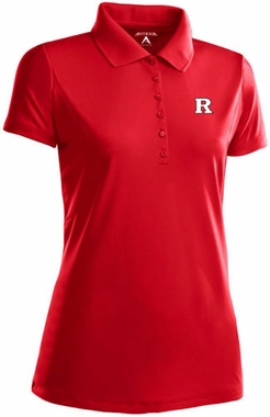 Rutgers Womens Pique Xtra Lite Polo Shirt (Color: Red)