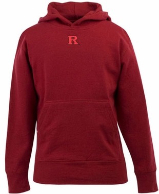 Rutgers YOUTH Boys Signature Hooded Sweatshirt (Color: Red)