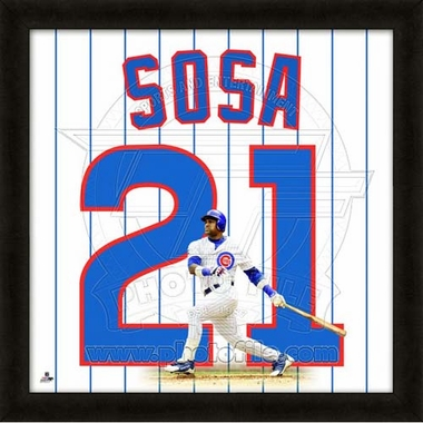 "Sammy Sosa, Cubs UNIFRAME 20"" x 20"""