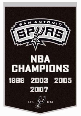 "San Antonio Spurs 24""x36"" Dynasty Wool Banner"