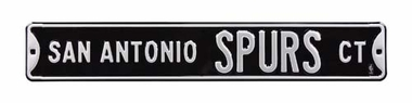 San Antonio Spurs Ct Street Sign