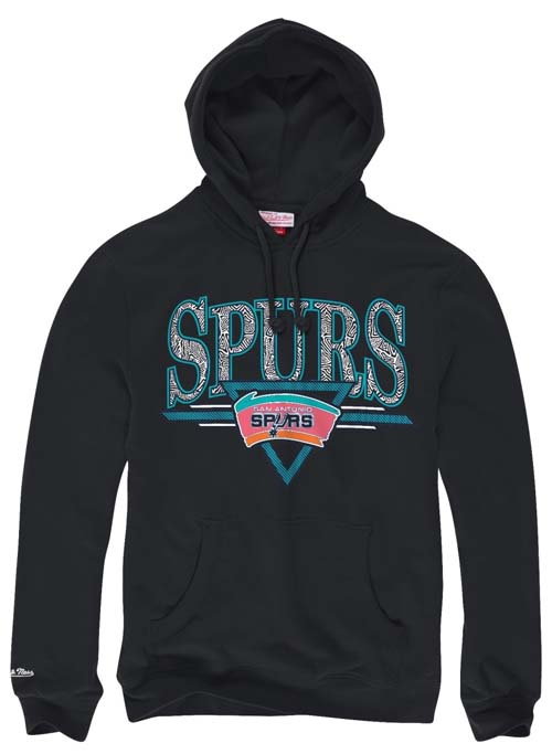 4cbbc08f4af San Antonio Spurs Mitchell   Ness Abstract Vibes Pullover Hooded Sweatshirt