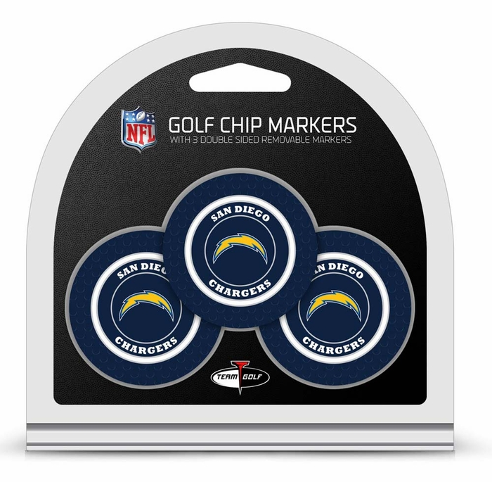 San Diego Chargers 3 Pack Poker Chip Ball Markers