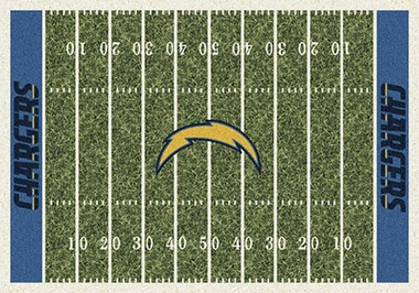 "San Diego Chargers 7'8"" x 10'9"" Premium Field Rug"