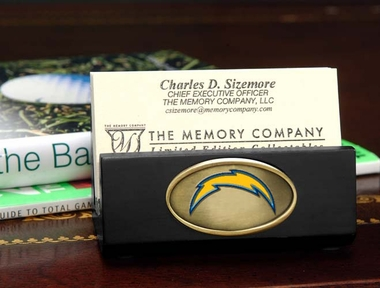 San Diego Chargers Business Card Holder (Black)