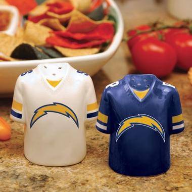 San Diego Chargers Ceramic Jersey Salt and Pepper Shakers