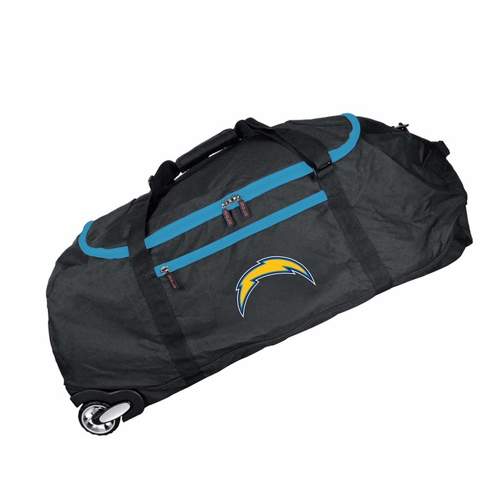 San Diego Chargers Canopy: San Diego Chargers Collapsible Duffel Luggage (Color: Black