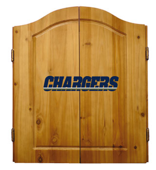 San Diego Chargers Complete Dart Cabinet