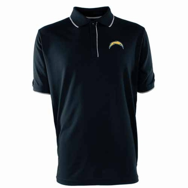 San Diego Chargers Mens Elite Polo Shirt (Color: Navy)