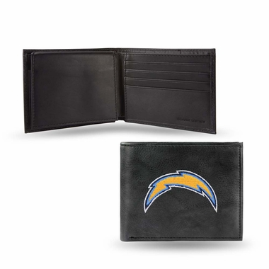 San Diego Chargers Embroidered Leather Bi-Fold Wallet