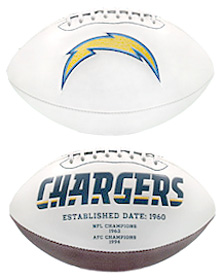 San Diego Chargers Full Size Embroidered Signature Series Football
