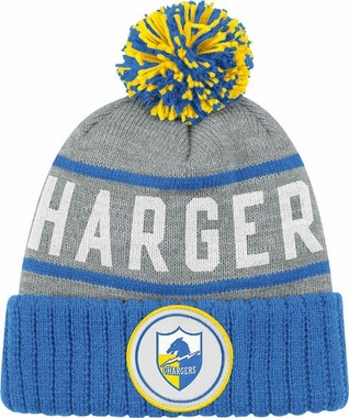 San Diego Chargers High 5 Vintage Cuffed Pom Hat