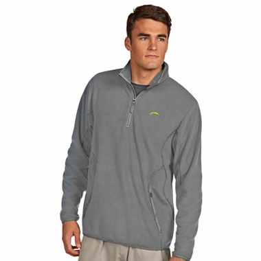 San Diego Chargers Mens Ice Polar Fleece Pullover (Color: Silver)