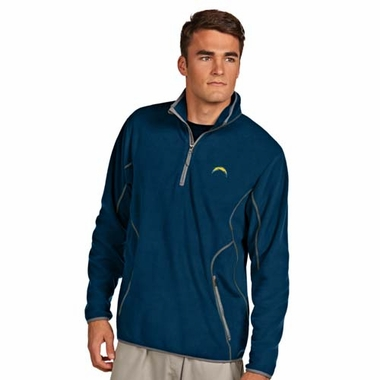 San Diego Chargers Mens Ice Polar Fleece Pullover (Color: Navy)