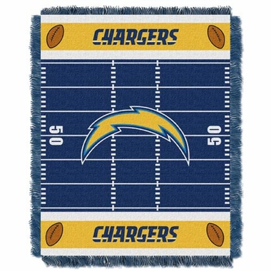 San Diego Chargers Jacquard BABY Throw Blanket