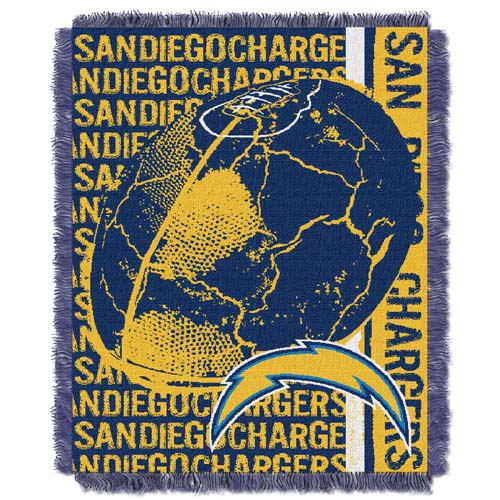 San Diego Chargers Jacquard Woven Throw Blanket