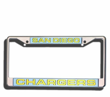 San Diego Chargers Laser Etched Chrome License Plate Frame