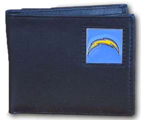 San Diego Chargers Leather Bifold Wallet (F)