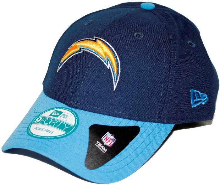 San Diego Chargers Caps: San Diego Chargers New Era 9Forty The League Adjustable