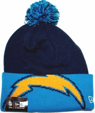 San Diego Chargers New Era NFL Major Cuff Cuffed Knit Hat