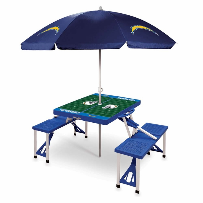 San Diego Chargers Canopy: San Diego Chargers Picnic Table With Umbrella (Blue