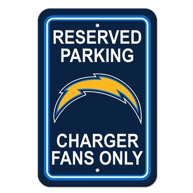 San Diego Chargers Plastic Reserved Parking Sign (P)