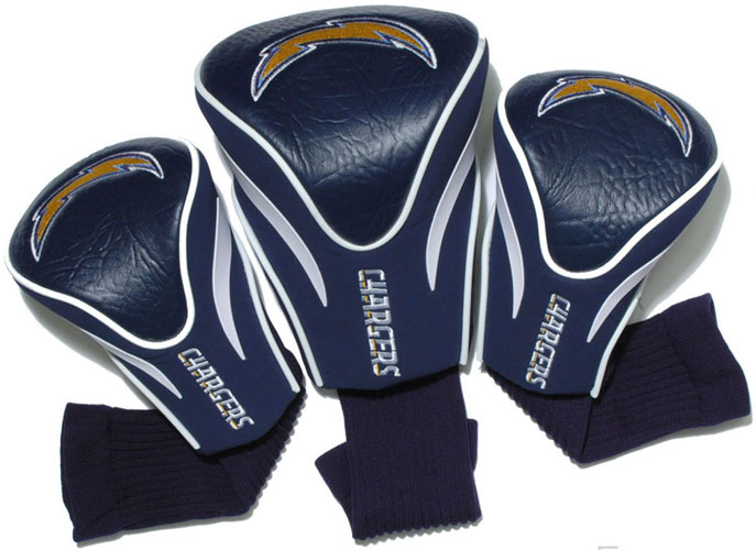 San Diego Chargers Set Of Three Contour Headcovers