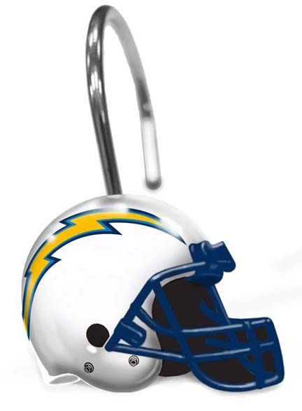 San Diego Chargers Shower Curtain Rings