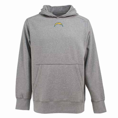 San Diego Chargers Mens Signature Hooded Sweatshirt (Color: Gray)