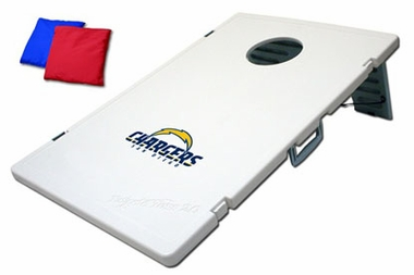 San Diego Chargers Tailgate Toss 2.0 Cornhole Beanbag Game