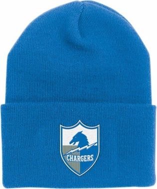 San Diego Chargers Throwback Logo Cuffed Knit Hat