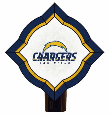 San Diego Chargers Vintage Art Glass Nightlight