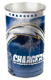 """San Diego Chargers 15"""" Waste Basket"""