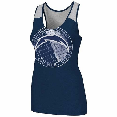 "San Diego Chargers Women's Majestic ""Play Time Tank VI"" Tank Top Shirt"