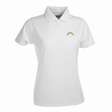 San Diego Chargers Womens Exceed Polo (Color: White)