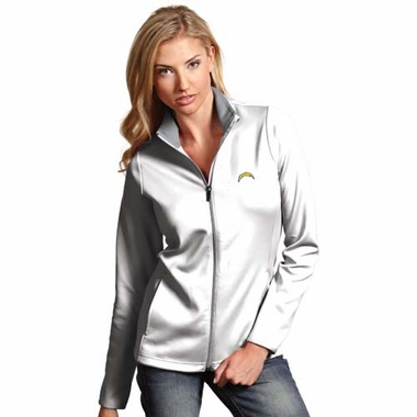 San Diego Chargers Womens Leader Jacket (Color: White)