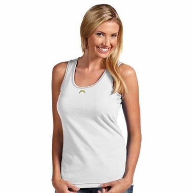 San Diego Chargers Womens Sport Tank Top (Color: White)