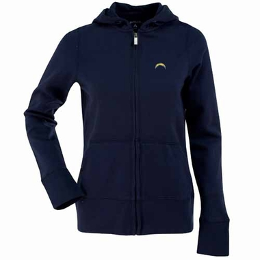 San Diego Chargers Womens Zip Front Hoody Sweatshirt (Color: Navy)