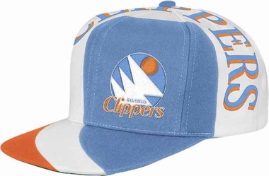 San Diego Clippers Mitchell & Ness The Swirl Retro Vintage Snap Back Hat