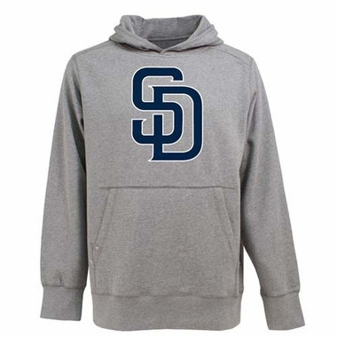 San Diego Padres Big Logo Mens Signature Hooded Sweatshirt (Color: Gray)
