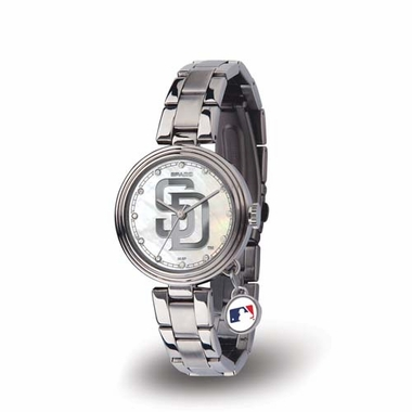 San Diego Padres Charm Womens Watch