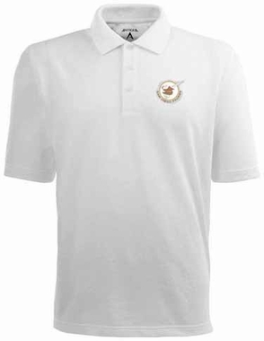 San Diego Padres Mens Pique Xtra Lite Polo Shirt (Cooperstown) (Color: White)