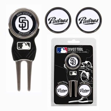 San Diego Padres Repair Tool and Ball Marker Gift Set