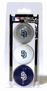 San Diego Padres Set of 3 Multicolor Golf Balls