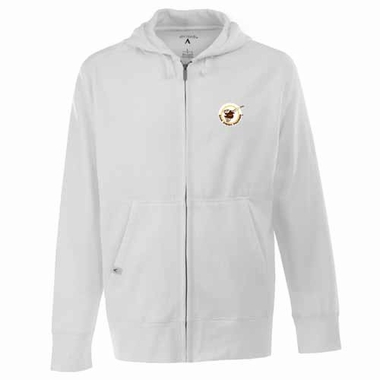 San Diego Padres Mens Signature Full Zip Hooded Sweatshirt (Cooperstown) (Color: White)