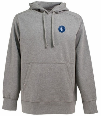 San Diego Padres Mens Signature Hooded Sweatshirt (Color: Gray)