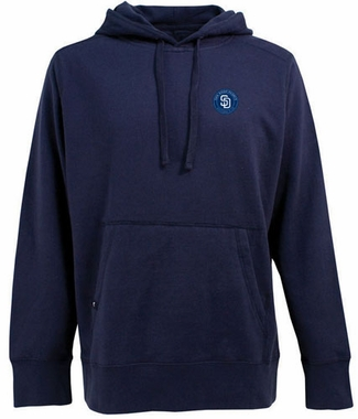 San Diego Padres Mens Signature Hooded Sweatshirt (Color: Navy)