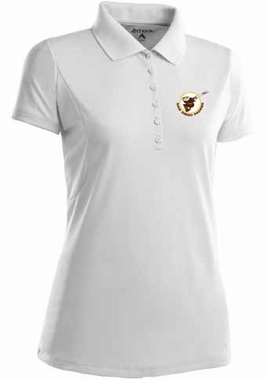 San Diego Padres Womens Pique Xtra Lite Polo Shirt (Cooperstown) (Color: White)